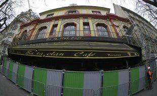 La façade du Bataclan, le 21 mars 2016