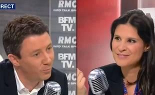 Apolline de Malherbe interviewe Benjamin Griveaux sur BFMTV
