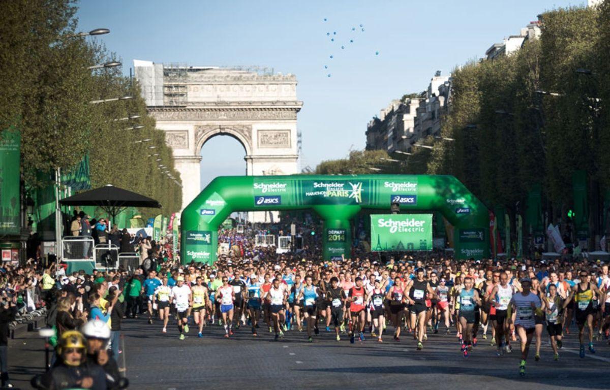 L'édition 2014 du marathon de Paris. –  NICOLAS MESSYASZ/SIPA