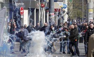 Manifestation à Lille contre le projet de loi travail de la ministre Myriam El Khomri.