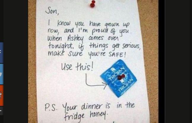 Cette mère de famille n'a pas placé la punaise au bon endroit.