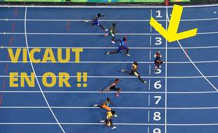 Vous avez peut-être mal vu, mais Jimmy Vicaut a bien remporté la finale du 100m