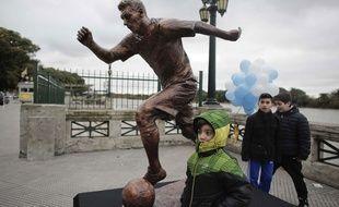 La statue de Lionel Messi à Buenos Aires le 28 juin 2016.
