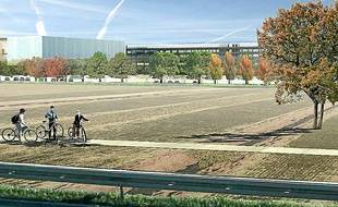 Compact, le bâtiment occupera 13 des 25 hectares du Parc des expositions.