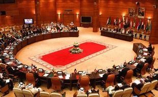 Réunion des ministres des Affaires étrangères de la Ligue arabe à Rabat, au Maroc, le 16 novembre 2011.