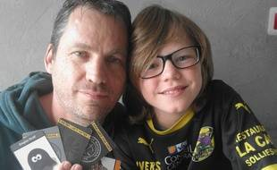 David Perez et son fils.