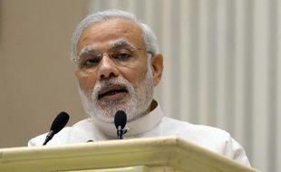 Le Premier ministre indien Narendra Modi à New Delhi le 6 avril 2015