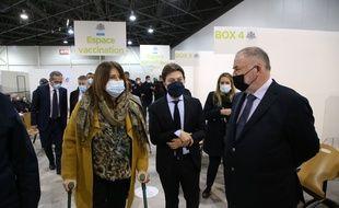 Michèle Rubirola aux côtés du maire de Marseille, Benoît Payan