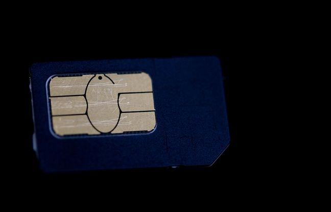 Une carte SIM.