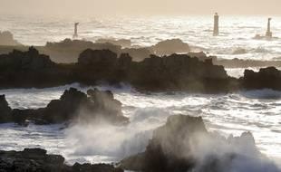 Illustration du littoral de l'île d'Ouessant, où un enfant a été happé par une vague le 28 octobre 2020.