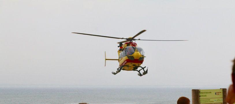 Illustration de l'hélicoptère de la sécurité civile de la Gironde, Dragon 33.