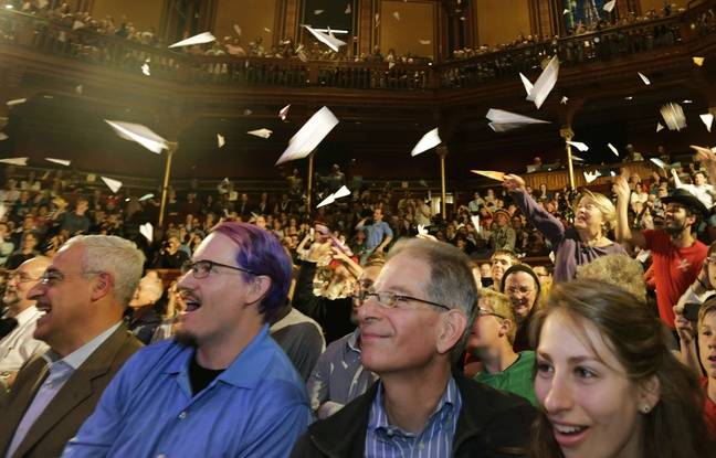 Cérémonie des Ig Nobel à Harvard le 18 septembre 2014.