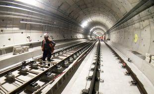 Le tunnel (ici, début septembre) aurait fait exploser le budget, selon la gauche