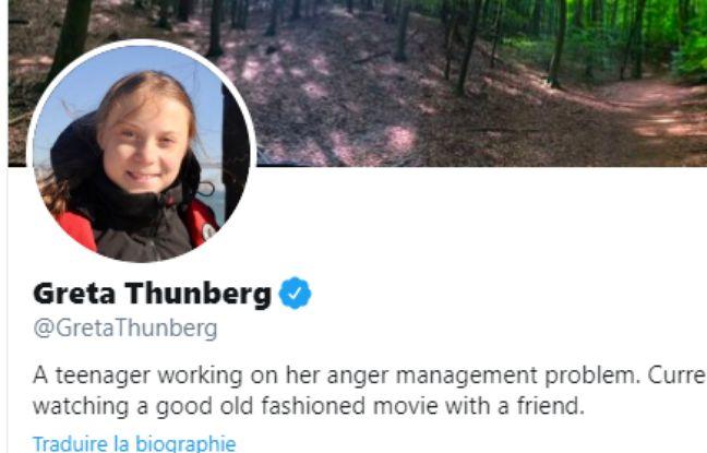 La bio twitter modifiée de Greta Thunberg