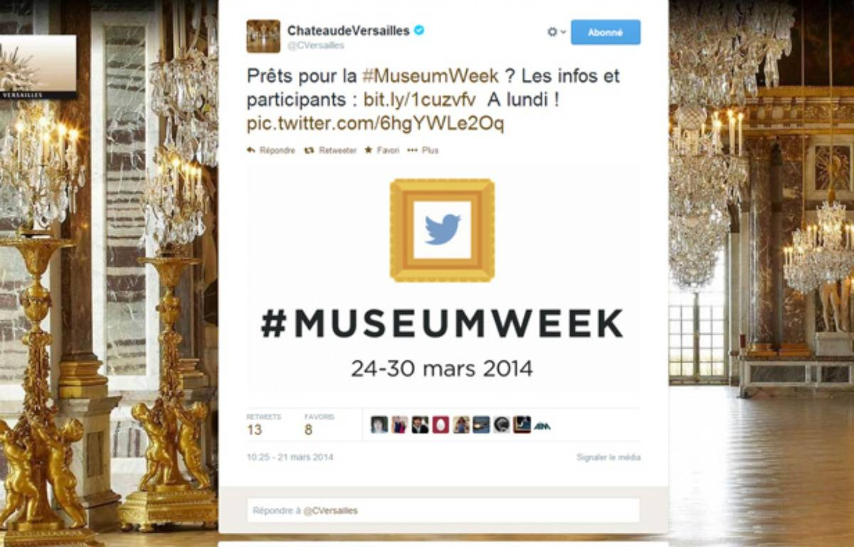 Capture d'écran du compte Twitter du Château de Versailles – Twitter