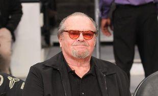 L'acteur Jack Nicholson à un match des Lakers