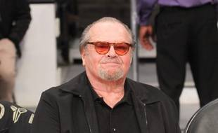 L'acteur Jack Nicholson à un match des Lakers