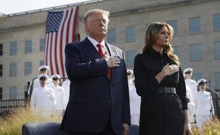Donald et Melania Trump ont rendu hommage aux victimes des attentats, le 11 septembre 2019.