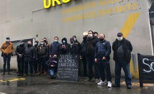 Manifestation en soutien aux victimes d'agressions mercredi 27 janvier 2020 à Nantes.