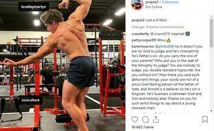 Le fils de Schwarzenegger reproduit une photo culte de son père sur Instagram.