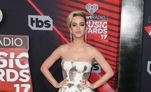 La chanteuse Katy Perry aux iHeartRadio Music Awards 2017
