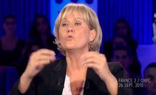 Nadine Moranao dans On n'est pas couché sur France 2 le 26 septembre 2015