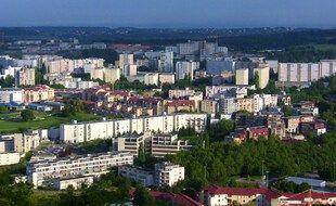 Le quartier de Planoise, à Besançon.