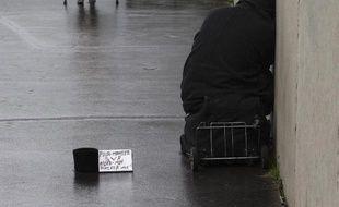 Une personne sans-abri à Paris