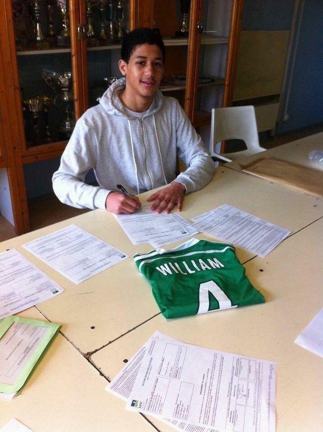 William Saliba a rejoint le centre de formation de l'ASSE en 2016.