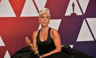 La chanteuse et actrice Lady Gaga à la 91e cérémonie des Oscars