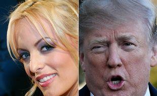 Story Daniels et Donald Trump, au cœur d'un feuilleton judiciaire depuis leur supposée relation sexuelle en 2006.