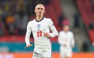 Phil Foden lors d'Angleterre-Ecosse, vendredi à Wembley.