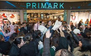 Inauguration du magasin Primark à Marseille, en décembre 2013.