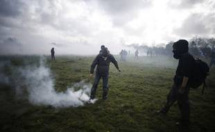 Affrontement sur la ZAD le 15 avril 2018.