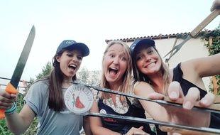 Emilie, Elodie et Louise sont prêtes à «envoyer du steack» aux championnats de France de BBQ.
