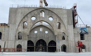 La Grande mosquéeEyyub Sultan à Strasbourg le 23 mars 2021.