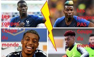 Paul Pogba et Presnel Kimpembe font dans la sobriété capillaire pendant cette Coupe du monde.