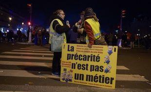 Des « gilets jaunes » à Paris.