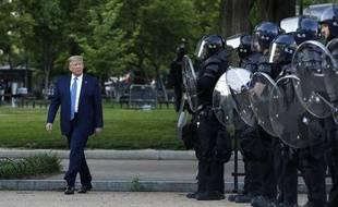Donald Trump a demandé à la garde nationale de se retirer des rues de Washington dimanche 7 juin 2020.