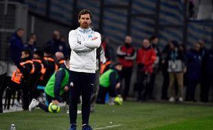 L'entraîneur marseillais André Villas-Boas soucieux lors du match OM-TFC, le 8 février 2020.