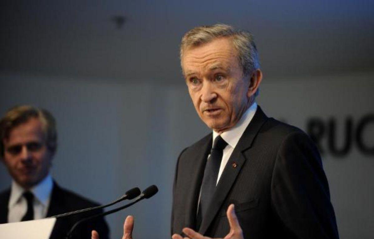 Le patron du groupe LVMH, Bernard Arnault, le 6 février 2015 – Guillaume Souvant AFP