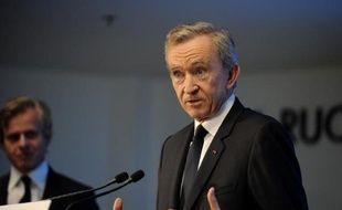 Le patron du groupe LVMH, Bernard Arnault, le 6 février 2015