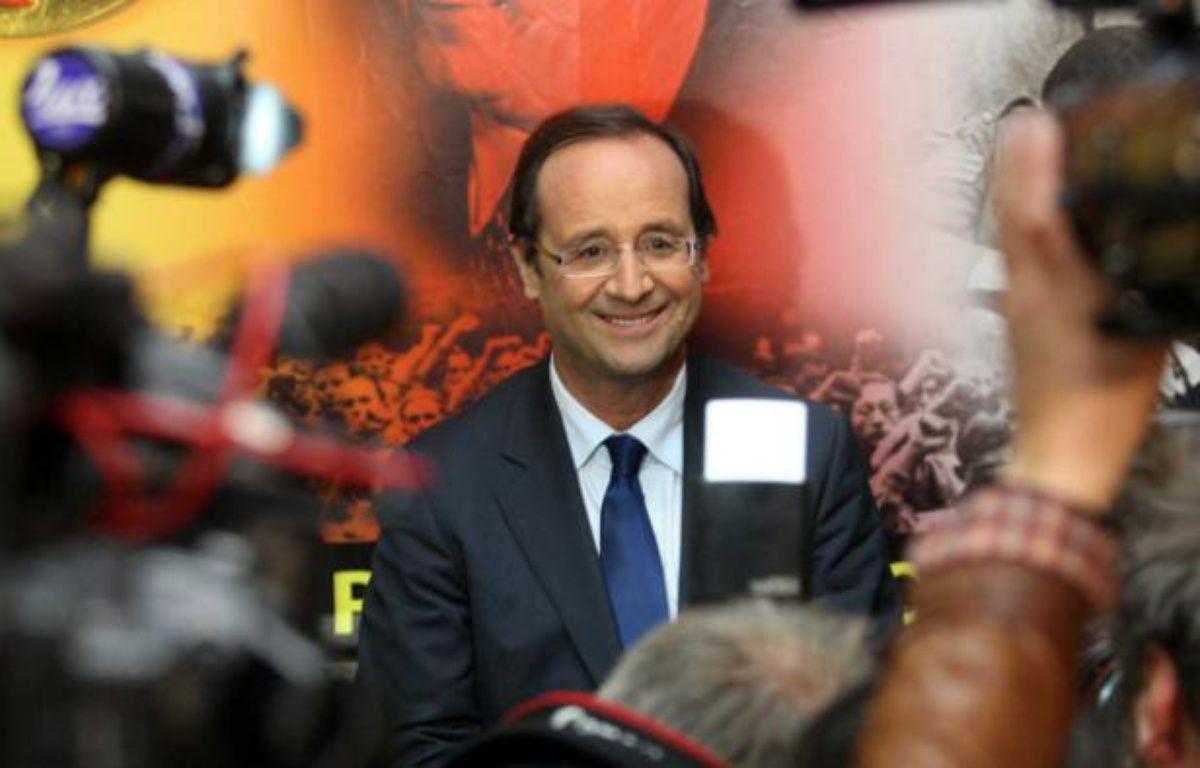 François Hollande, favori de la primaire socialiste, le 7 octobre 2011 – BAZIZ CHIBANE/SIPA