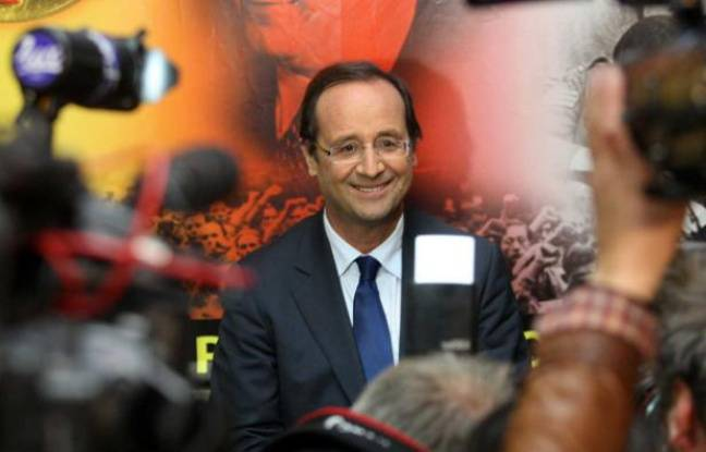 François Hollande, favori de la primaire socialiste, le 7 octobre 2011