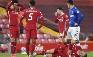 Liverpool s'est incliné face au rival Everton à Anfield pour la première fois depuis 1999, samedi 20 février 2021.