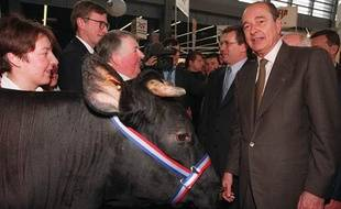 Jacques Chirac au Salon de l'Agriculture en 1996.