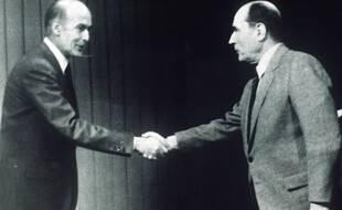 Valéry Giscard d'Estaing face à François Mitterrand le 10 mai 1974.