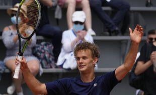 Luca van Assche a remporté Roland-Garros juniors, le 12 juin 2021.