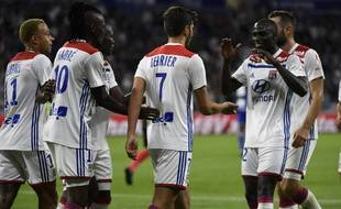 Martin Terrier a marqué avec Lyon contre Strasbourg, le 24 août 2018.