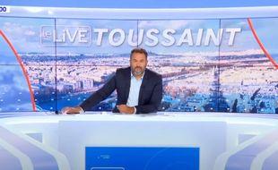 Le journaliste Bruce Toussaint est accusé d'avoir participé à un déjeuner clandestin à Deauville